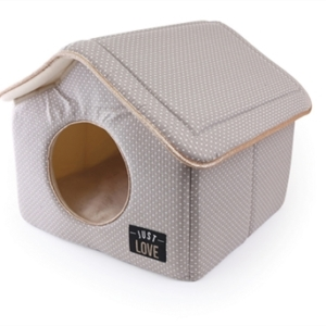 Martin sellier hondenmand kattenmand huis just love taupe